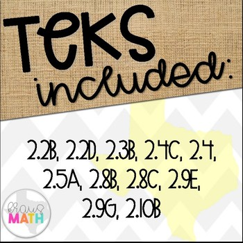 Grade 2 Math TEKS-Aligned Task Cards: Readiness Standards Bundle!