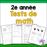 Grade 2 Math Tests Bundle (French)