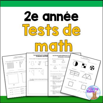 Grade 2 Math Tests Bundle (French)