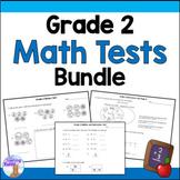 Grade 2 Math Tests Bundle