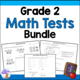 Grade 2 Math Tests Bundle