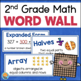 Math Word Wall GRADE 2 Math Vocabulary Cards