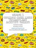 Grade 2 Math Vocabulary Organizer Comic Sheets Book Center