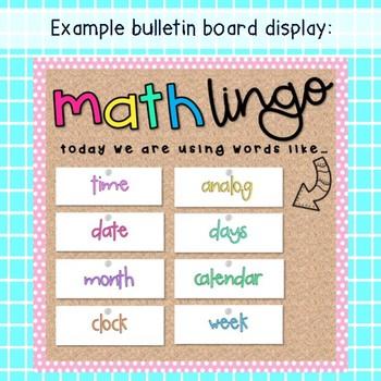 Grade 2 Math Vocabulary cards / Math language / Australian curriculum aligned