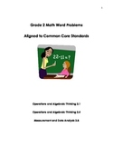 Grade 2 Math Word Problems Aligned to Common Core Standards