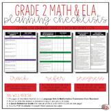 Grade 2 Math and ELA Common Core Checklists