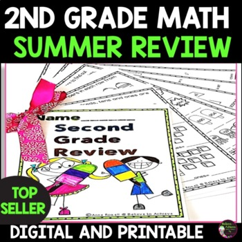 Grade 2! Math for Summer Review! No Prep!