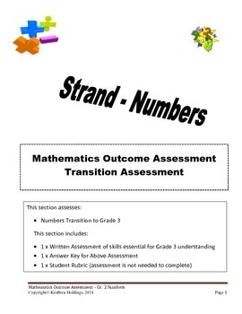 Grade 2 - Mathematics Transition Assessment