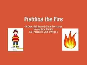 Grade 2 Mc Graw Hill Ca Treasures: Fighting the Fire Vocab