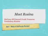 Grade 2 Mc Graw Hill Ca Treasures: Meet Rosina Vocabulary Routine
