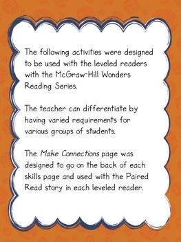 Grade 2 McGraw-Hill Wonders Unit 2 Leveled Reader Activities