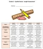 Grade 2 Measurement Test - Linear Measurement, Area, Dista