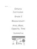 Grade 2 Measurement Test (Ontario)