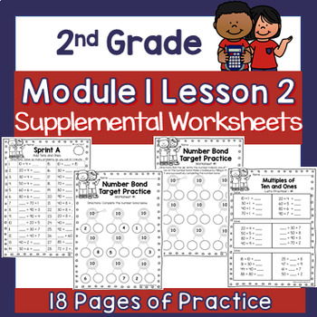 2nd Grade Module 1 Lesson 2 Supplemental Worksheets - Multiples of Ten and Ones