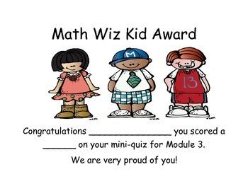 Grade 2 Module 3 Mini-Quiz with rubric