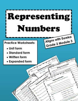 Representing Numbers Practice Sheets: Aligns with Grade 2 Module 3