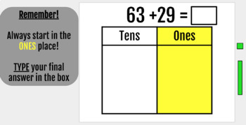 Adding with Place Value Blocks Digital Interactive Notebook