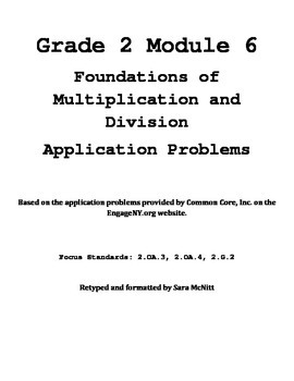 Grade 2 Module 6 Application Problems