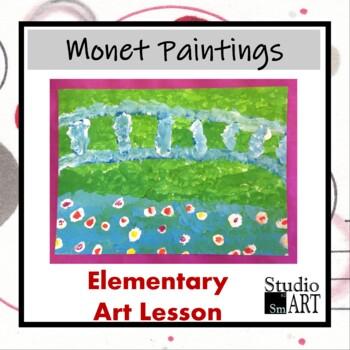 Grade 2 Monet Inspired Paintings