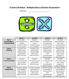 Grade 2 Multiplication and Division Assessments - 2020 Ont