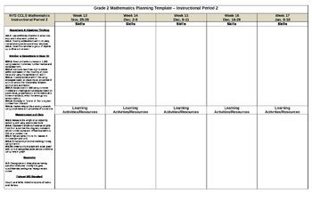Grade 2 NYS Common Core Mathematics Planning Guide Period 2