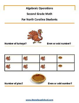 Grade 2 -  North Carolina  -  Algebraic Operations  - Common Core