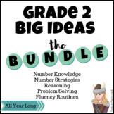 Grade 2 Number Sense & Fluency Bundle: Centers & Routines for the entire year!