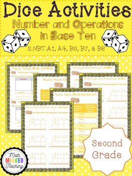 Grade 2 - Number and Operations in Base Ten - Dice Games