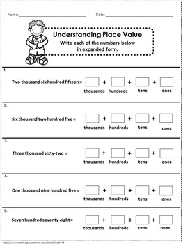 2nd Grade Math - Numbers and Operations Printables  (59 printables)