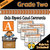 Grade 2 Ontario Arts Report Card Comments