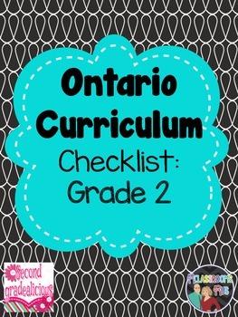Grade 2 Ontario Curriculum Checklist