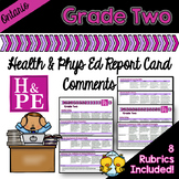 Grade 2 Ontario Health and Physical Education Report Card Comments