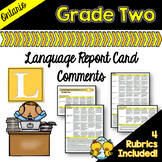 Grade 2 Ontario Language Report Card Comments