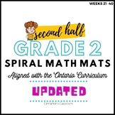 Grade 2 Ontario Math  | Spiral Math Mats | Weeks 21-40