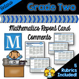 Grade 2 Ontario Mathematics Report Card Comments