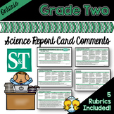 Grade 2 Ontario Science Report Card Comments