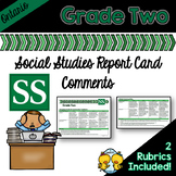 Grade 2 Ontario Social Studies Report Card Comments