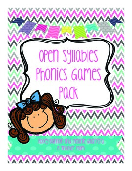 Grade 2 Open Syllables Game Pack