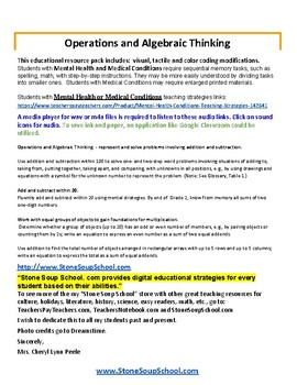 Grade 2 - Operations & Algebraic Thinking - Mental Health or Medical Conditions