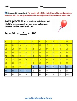 Grade 2 - Operations and Algebraic Thinking - Speech and Language Disabilities