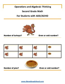 Grade 2 - Operations and Algebraic Thinking Students with ADD/ADHD  Common Core