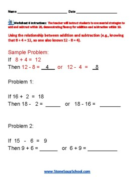 Grade 2 - Operations and Algebraic Thinking for Students with Autism -  CCS