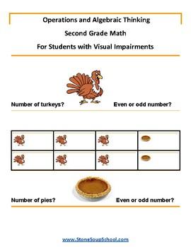 Grade 2 - Operations and Algebraic Thinking w/ Visual Impairments - Common Core