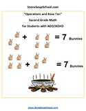 Grade 2 - Operations and Base Ten for Students with ADD/ADHD - Common Core