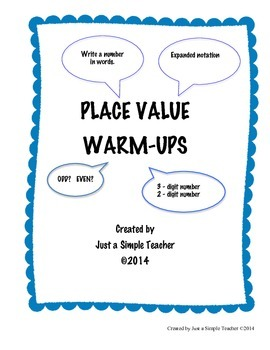 Grade 2 PLACE VALUE WARM-UP