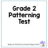 Grade 2 Patterning Test