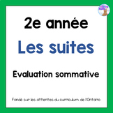 Grade 2 Patterning Test (French)
