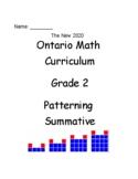 Grade 2 Patterning Test (Ontario)