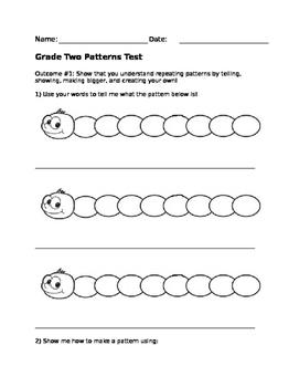 Grade 2 Patterns Test