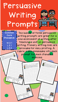 grade 2 persuasive writing prompts with rubric by miss irons tpt. Black Bedroom Furniture Sets. Home Design Ideas